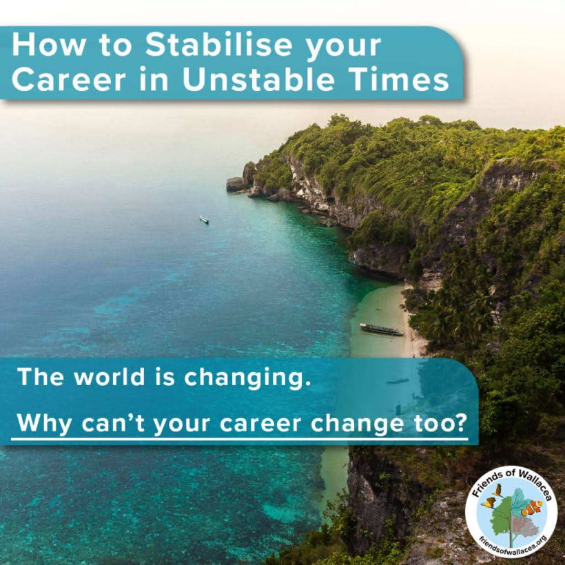 How to Stabilise Your Career in Unstable Time Free Guide - Info Booklet on Environmental Careers in Conservation and Sustainability