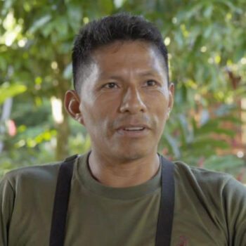 Photo of Olger Licuy, Manager of Sani Lodge Ecuador Site